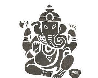Drawing tribal elephant India Ganesh, ethnic, Aboriginal.