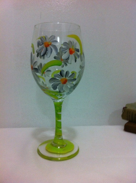 Unique Handprinted Wine Glasses By Sissysips On Etsy