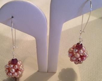 Pretty in pink Swarovski pearl earrings
