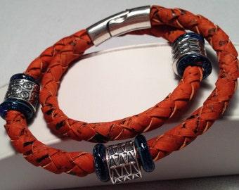 Firey Leather Bracelet