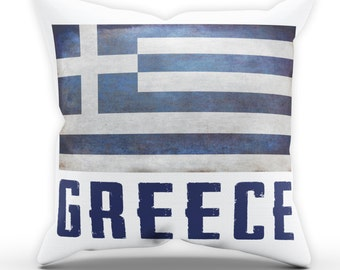 Greece Flag Pillow Cushion Cover Case Present Gift Bed Birthday Home Country Fan Nation National Greek Sport