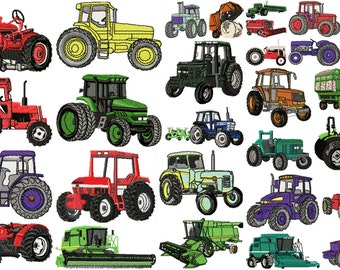 TRACTOR designs for embroidery machine, instant download