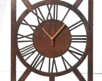 Clock - a large, wooden, wenge