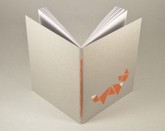 A6 Fox/Tangram Soft Cover Mini Journal Blank Notebook Travel