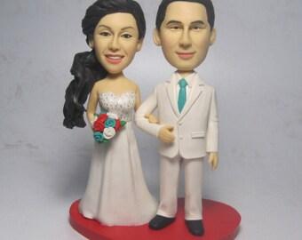 Wedding cake topper/Bobble heads custom funny cartoon figure