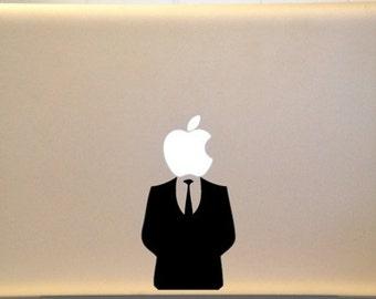 Apple Laptop Sticker - Suit