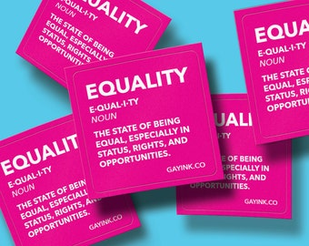 Gay Rights Equality Sticker - Pack of 3