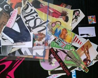 Over 50 Pre-Cut Fashion Magazine Images