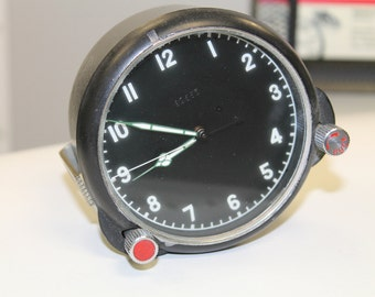 Vintage Soviet Mechanical Tank Clock USSR the 1980s.Perfect condition!!!!