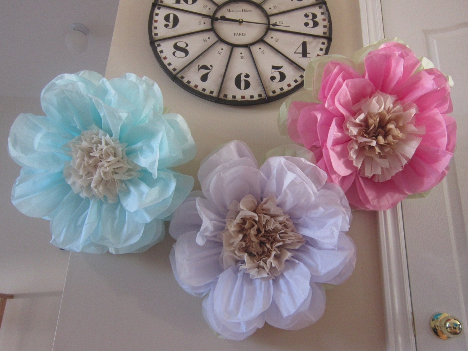 3 jumbo large FLOWERS/Tissue paper flowers by ...