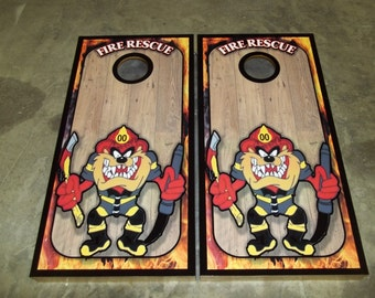 Taz Fire & Rescue Corn Hole Set - Bean Bag Toss Game