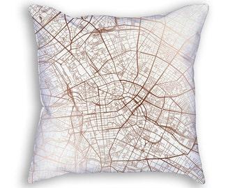 Berlin Germany Street Map Throw Pillow