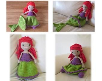 Ariel - Little Mermaid - Crochet doll pattern - Amigurumi pattern