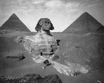Felix Bonfils Photo, the Sphinx and Pyramids at Giza, 1900s