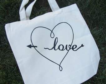 Love *Canvas Tote Bag *Book Bag**Tote*Gift for Her*