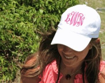 Monogrammed Pigment Dyed Cap
