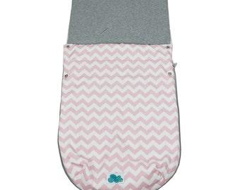 Stroller bag. Chevron Pink Sucre