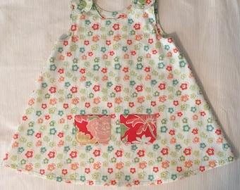 A-Line, 2T, cotton, floral dress