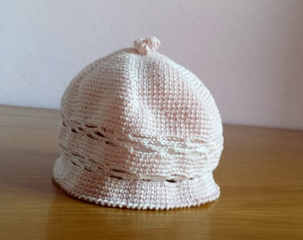 Pink Hat for baby girl (0-3 months)
