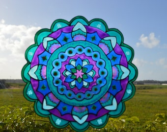 Window art, Mandala decal, Window suncatcher, Spiritual gift