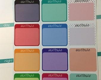 Gratitude Stickers for your Erin Condren Planner