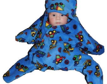 """SnuggleStar """"Rainbow"""" baby wrap for 0-6 month olds (4kg+)"""