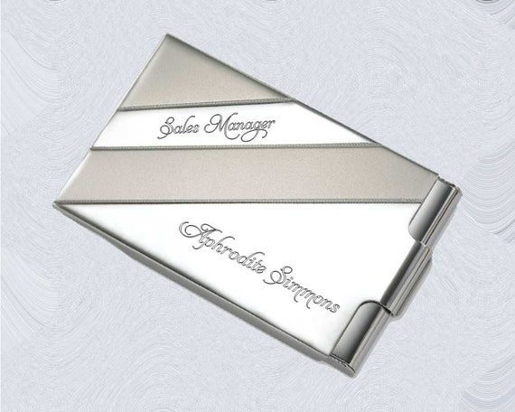 Personalized Business Card Holder Case custom engraved