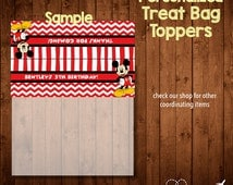 MICKEY MOUSE BIRTHDAY treat bag toppers- Digital File