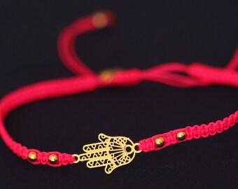 hamsa bracelet gold plated hamsa bracelet adjustable bracelet water proof