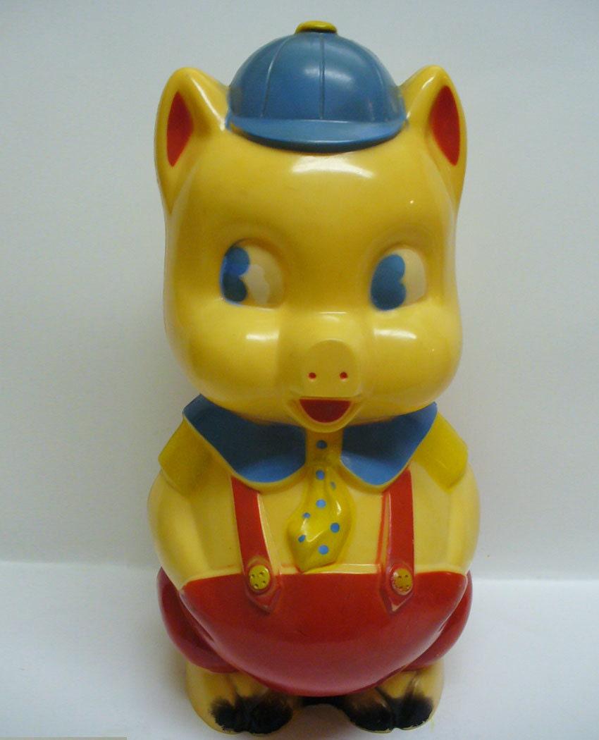 Vintage reliable 1950s plastic piggy bank - Resin piggy banks ...