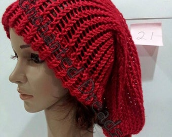 Extra Large Sparkling Red Slouchy Hat
