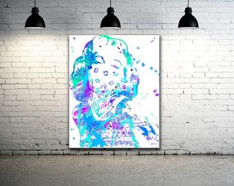 Marilyn Monroe Artwork / Graffiti Art Canvas / Street Art Canvas