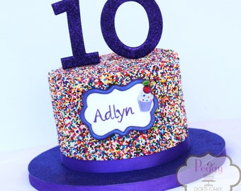Fondant Number Topper & and Name Plaque