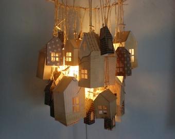 Paper house chandelier/ light/ lantern