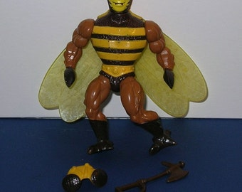 Vintage 1980s Masters of the Universe Complete Buzzoff Figure