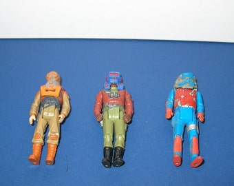 Vintage lot of 3 1980s Kenner Mask Figures with Helmets (Lot 2)