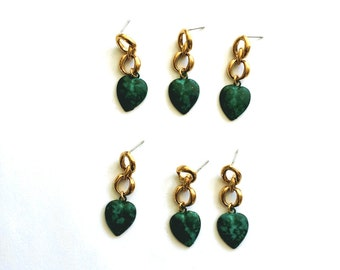My heart is green with envy for you! 6 Green heart earrings.