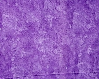 Purple mottled cotton fabric