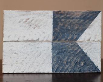 Nautical Signal Flags - Wood Nautical Signal Flags