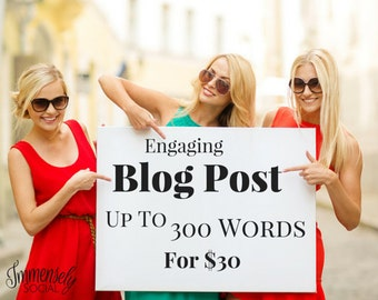 Blog Post Up to 300 Words