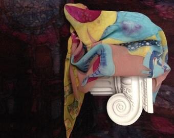 Silk Handpainted Shawl / Silk scarf
