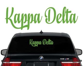 KD Kappa Delta Decal Sorority Decal Laptop Sticker Car Decal