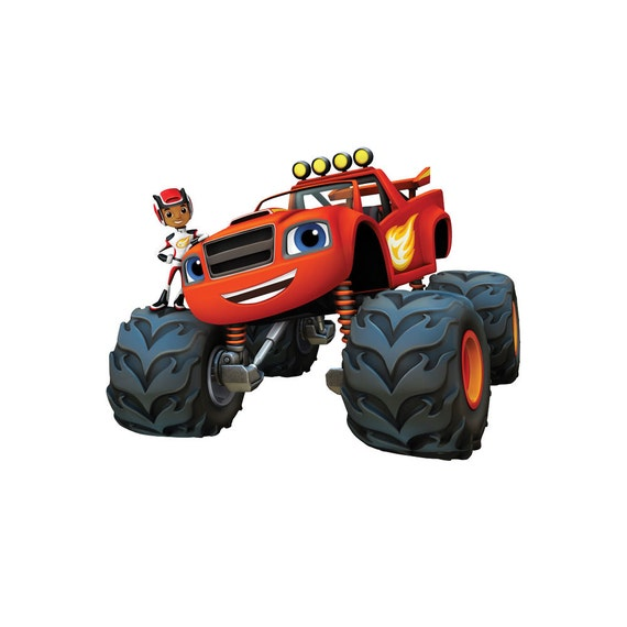 Monster Truck Wall Stickers Part - 45: Blaze And The Monster Machines HUGE   LARGE   SMALL Removable Wall Sticker  Art Decor Home Mural View Kids Vinyl