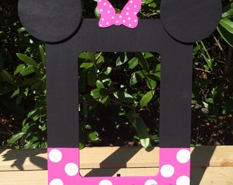 Minnie Mouse inspired hand made picture frame