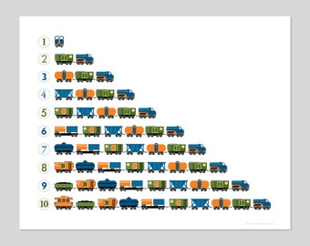 Counting Train Print