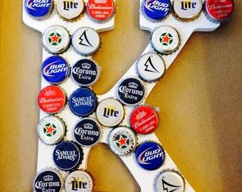 Beer bottle cap letters or framed