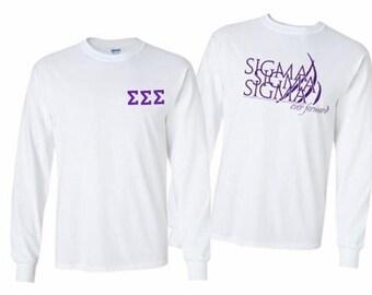 Sigma Sigma Sigma World Famous Crest Long Sleeve T-Shirt