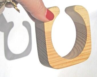 Wooden bracelet 25 mm Unfinished bangle Natural wood Wood Bracelets