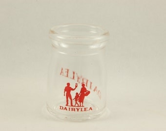 Vintage DAIRYLEA Glass CREAMER Bottle Farm Milk Dairy Mini Cream
