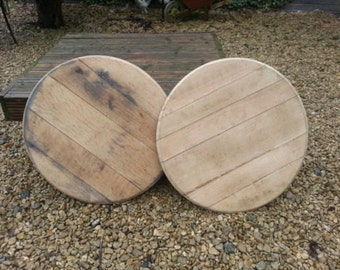 Oak Barrel Ends Whisky Cask Lids - Recycled and Refurbished - Signage Bases
